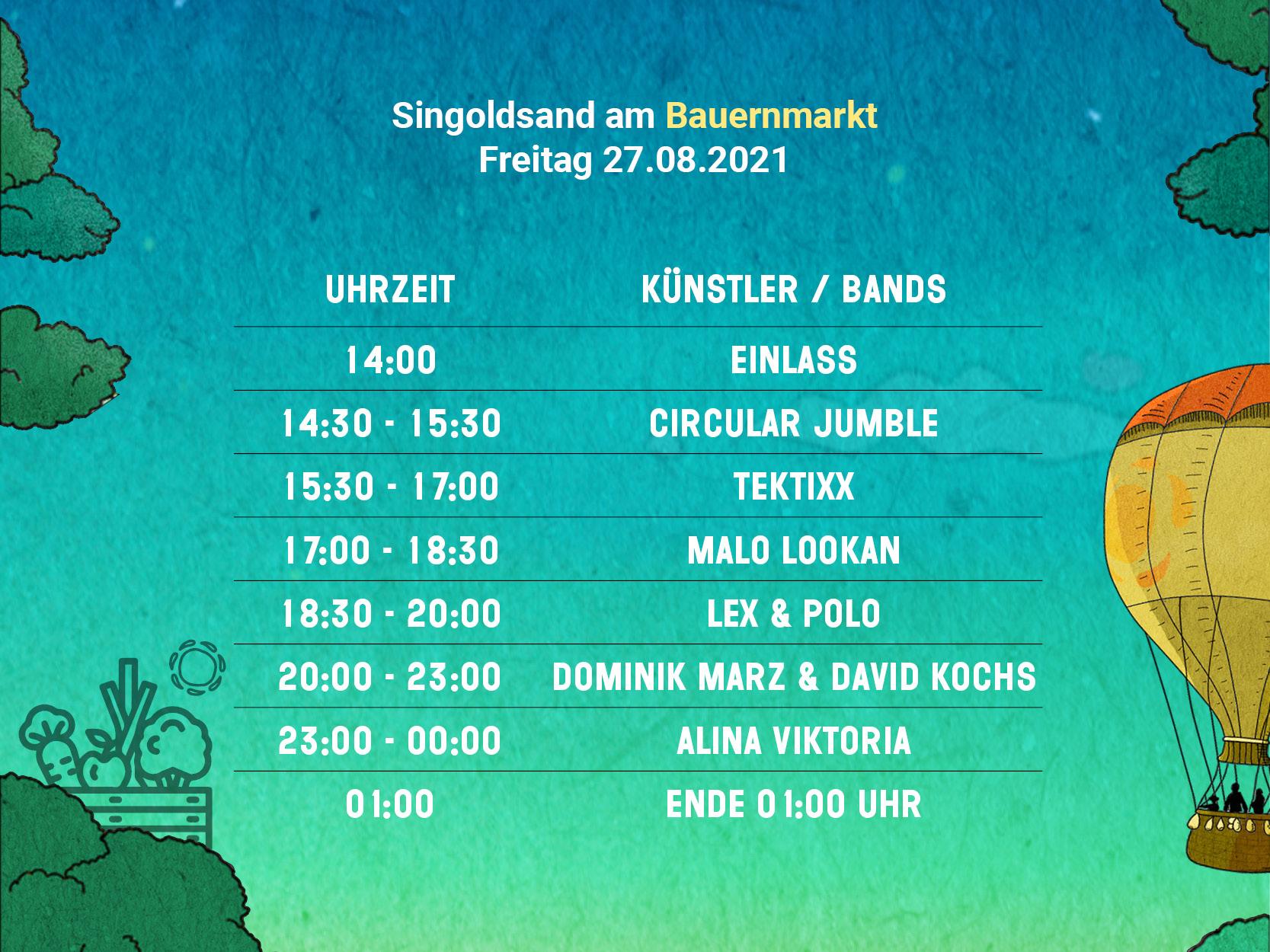 Line Up   Singoldsand Festival Schwabmünchen